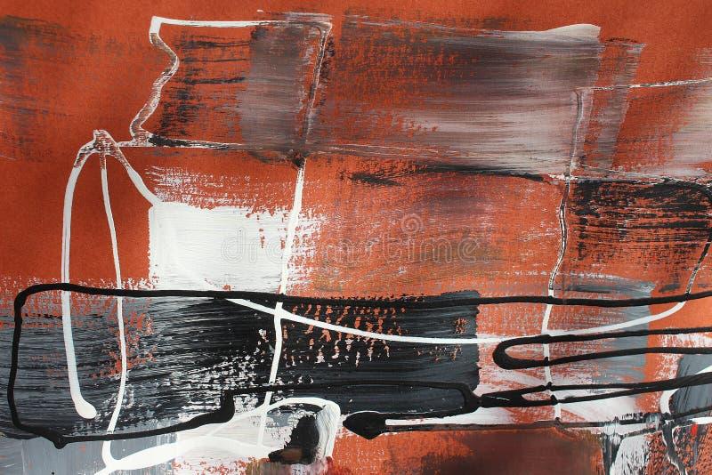 Bruna färger på kanfas flod för målning för skogliggandeolja abstrakt konstbakgrund Oljemålning på kanfas Färgtextur Fragment av  royaltyfri illustrationer