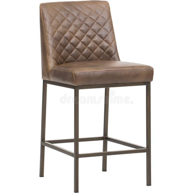 Bruna grå färger - möblemang - Sol-panna, HÖGLANDS- ÄTA MIDDAG STOL - den MÄSSINGSANTIKVITETEN - MÖRKT GRÅTT TYG, stångstol med k arkivfoto