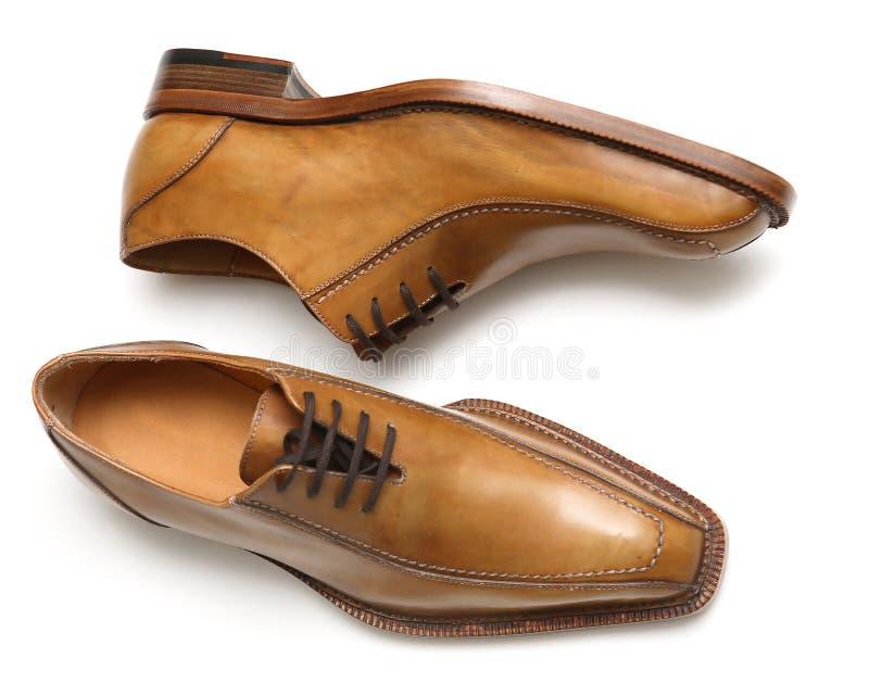 bruna male skor royaltyfria foton
