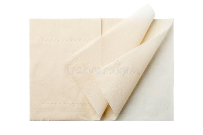 bruna servetter arkivbilder