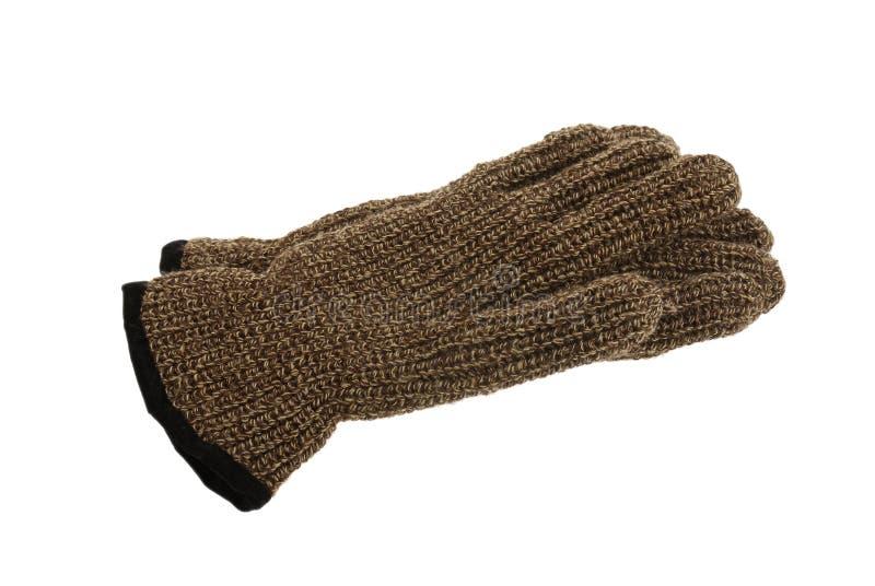 bruna woollen handskemelangepar royaltyfria bilder