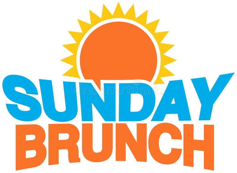 brunch η Κυριακή διανυσματική απεικόνιση