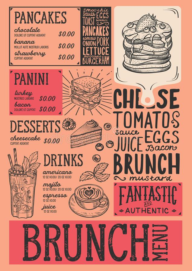 tri fold brunch menu template brunch menu templates mothers day