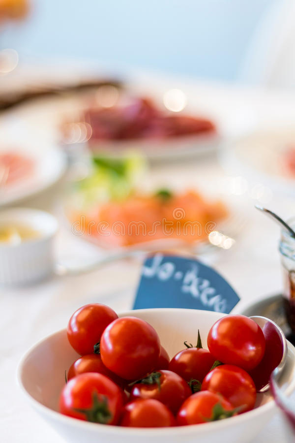 Brunch/Tomaten/Ontbijt royalty-vrije stock afbeelding