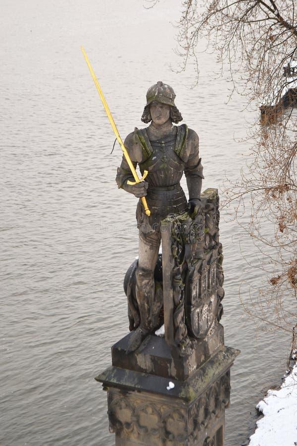 Bruncvik雕象在布拉格 免版税库存照片