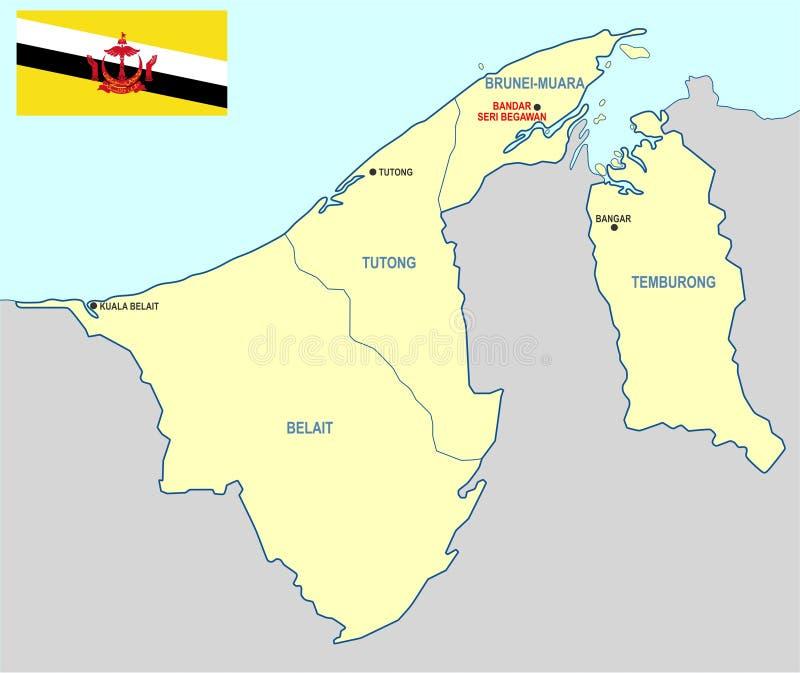 Brunei översikt royaltyfria foton