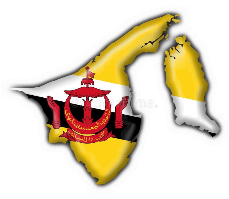 Brunei Button Flag