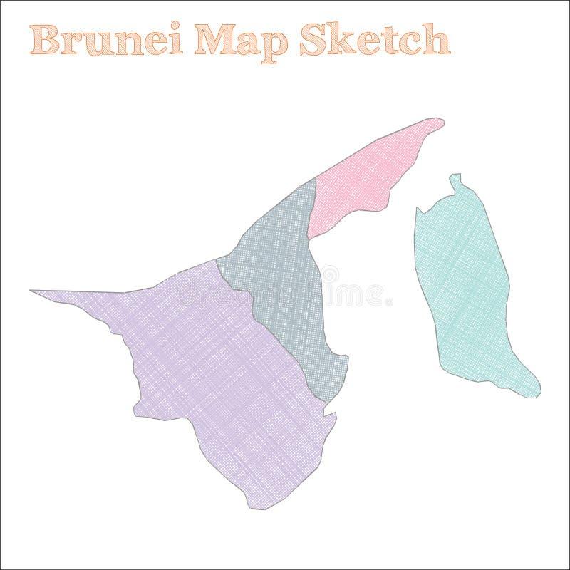 Brunei mapa ilustracja wektor