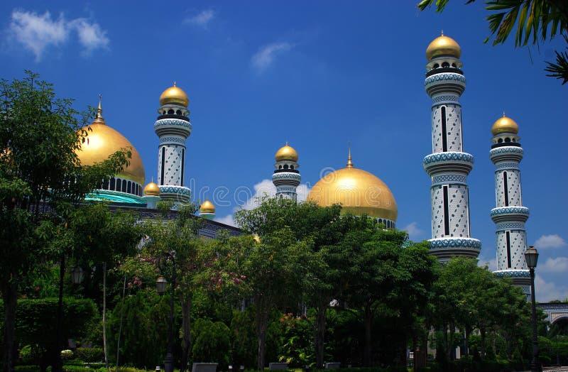 Brunei, mesquita de Jameasr Hassanil Bolkiah fotos de stock royalty free