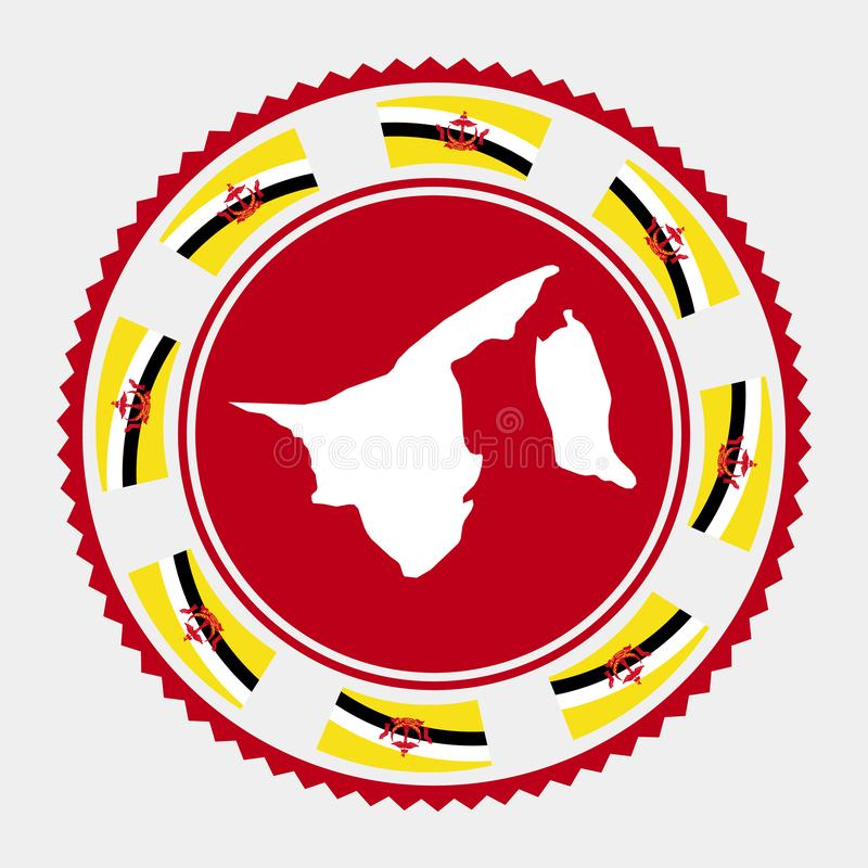 Brunei mieszkania znaczek royalty ilustracja