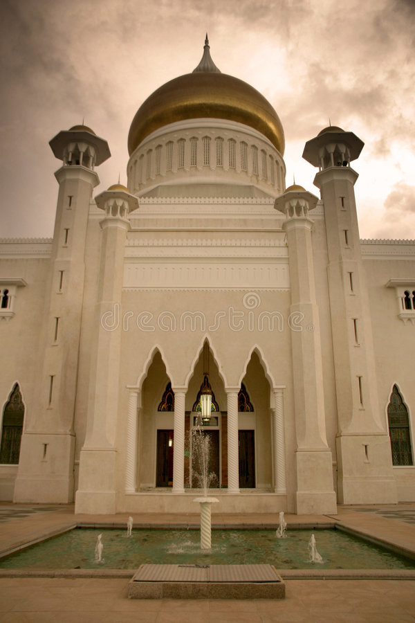 brunei moské royaltyfri bild
