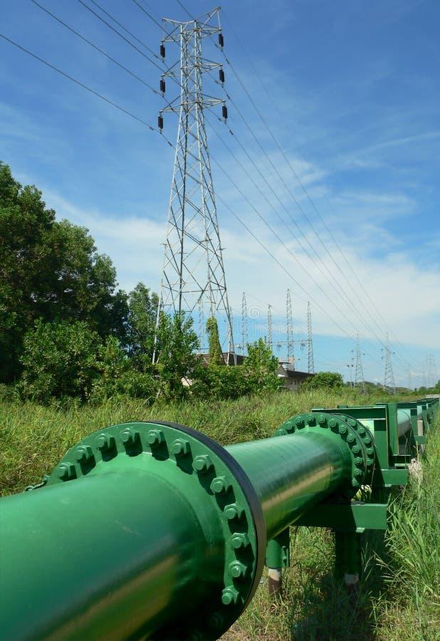 Brunei. Tubulação de petróleo cru fotografia de stock royalty free