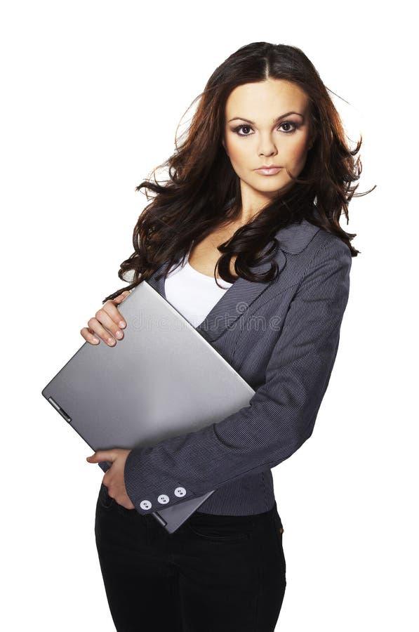 Brunet-Geschäftsfrau lizenzfreie stockfotografie