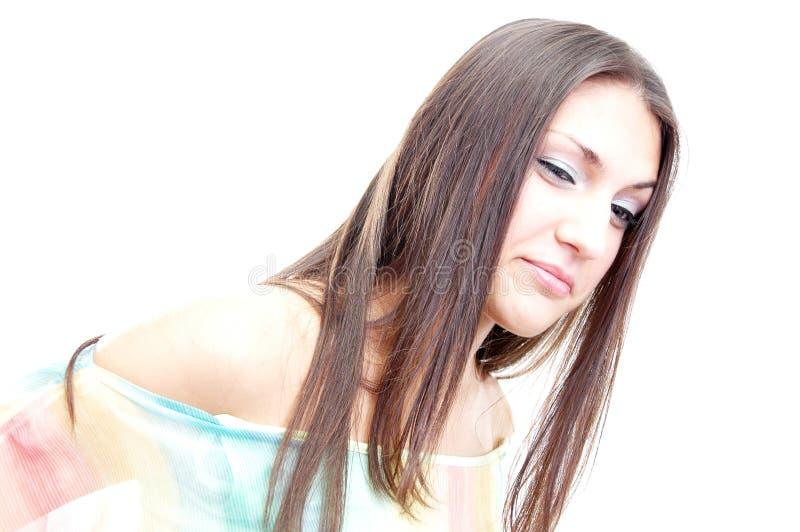 brunete portret obraz royalty free