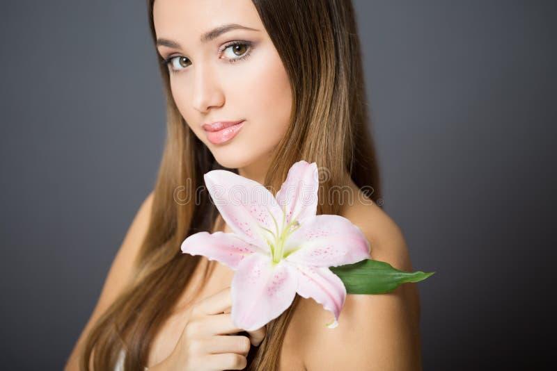 Brunetka kosmetyków piękno zdjęcia royalty free