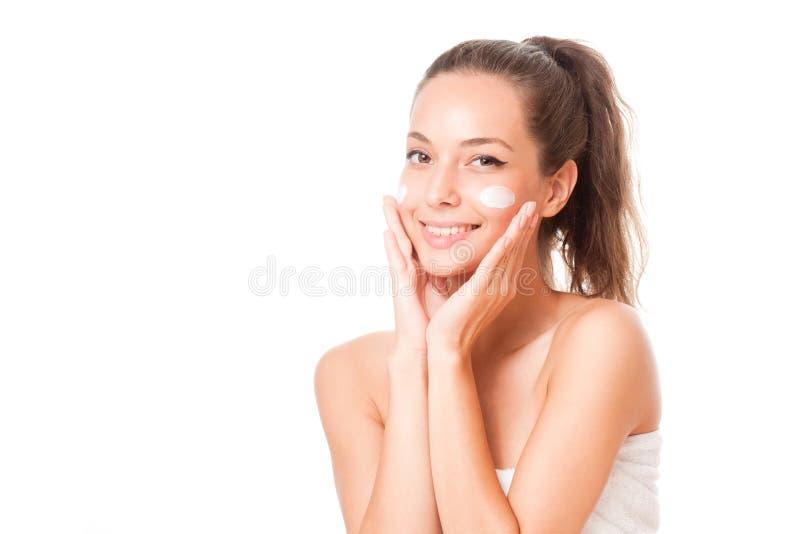 Brunetka kosmetyków piękno zdjęcia stock