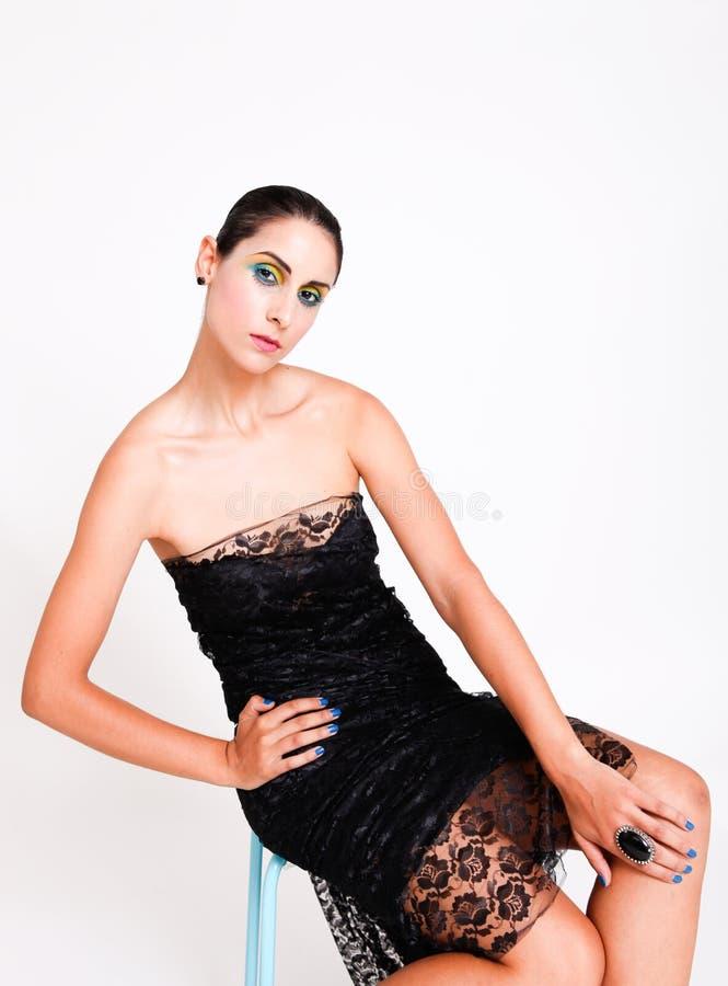 brunetka model zdjęcie stock