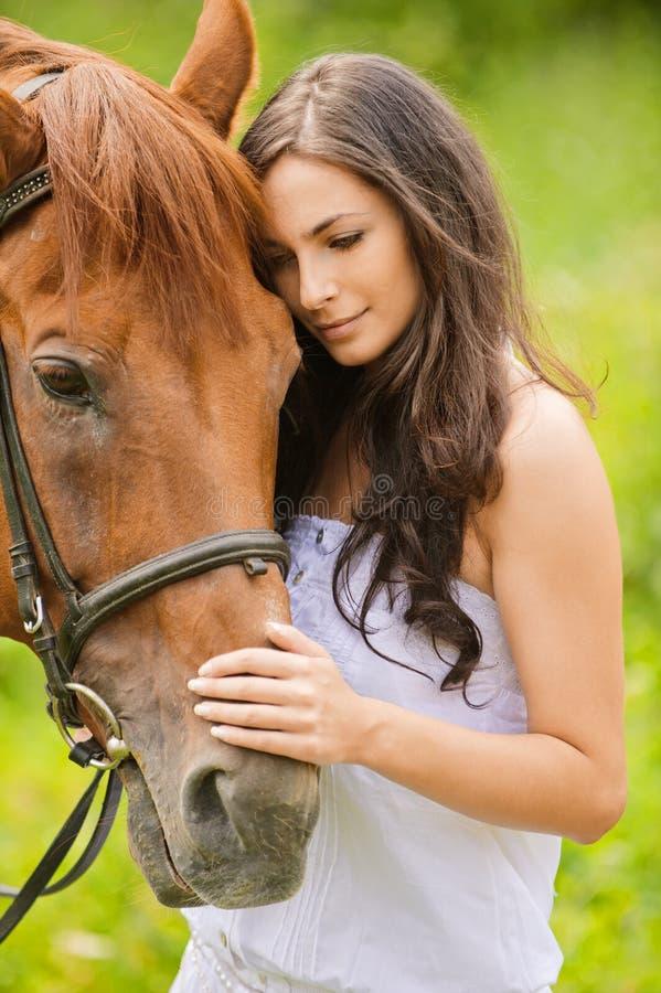 brunetka piękny portret fotografia royalty free