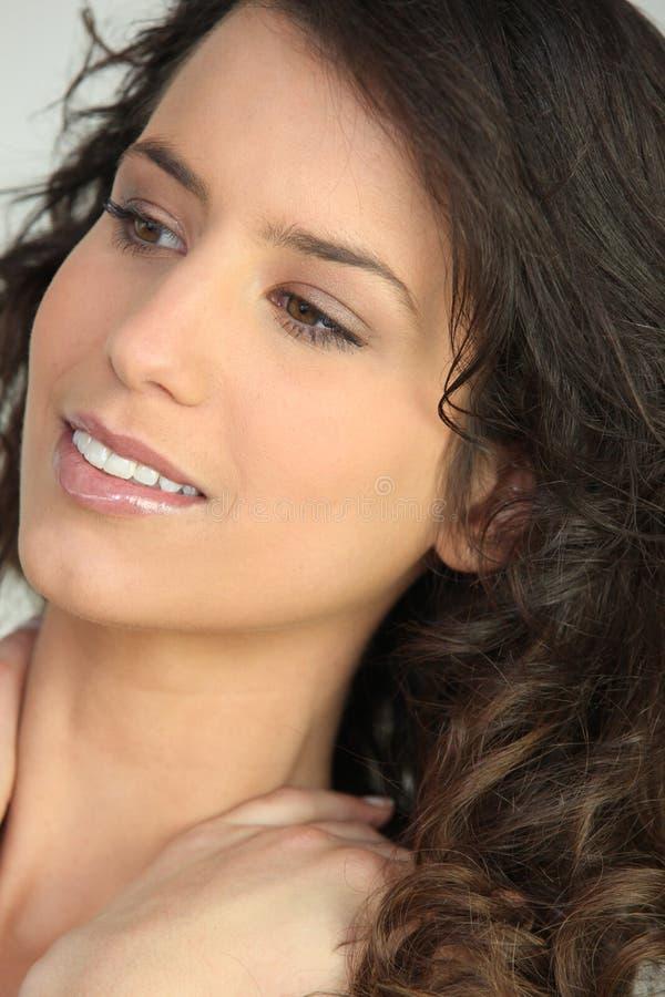 brunetka portret fotografia stock
