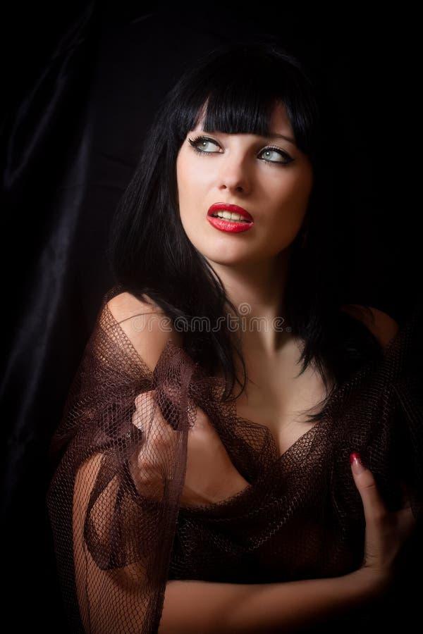brunetka portret piękna obraz stock