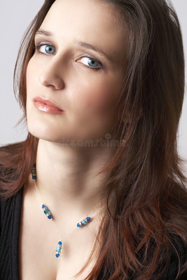 brunetka portret piękna kobieta fotografia stock