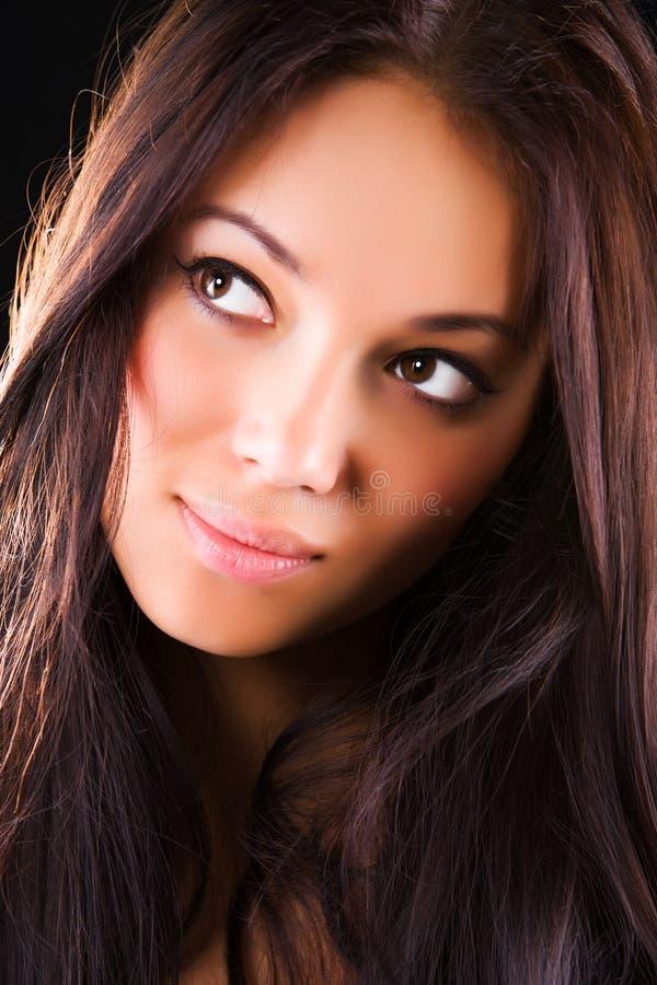 brunetka portreta kobiety potomstwa zdjęcia stock