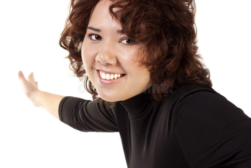 brunetka szczęśliwa zdjęcie stock
