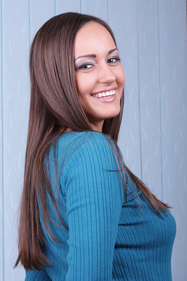brunetka szczęśliwa obrazy royalty free