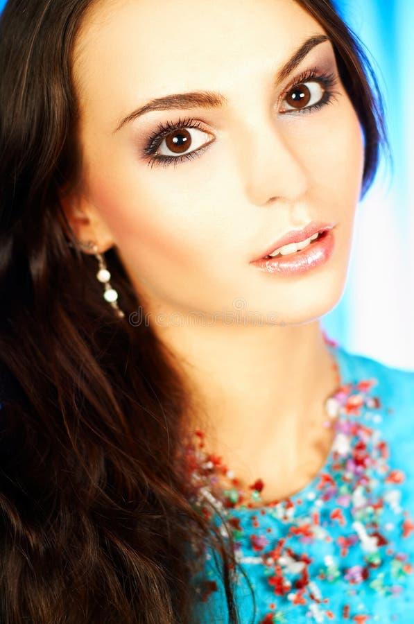 brunetka wzór portret zdjęcia royalty free