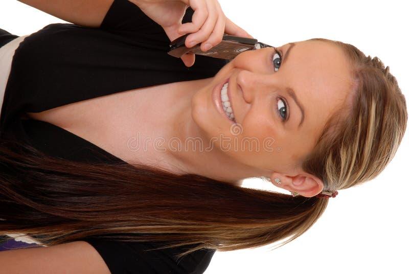 brunetki 13 telefoniczna kobieta zdjęcia royalty free