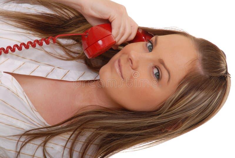 brunetki 2 telefoniczna kobieta fotografia royalty free
