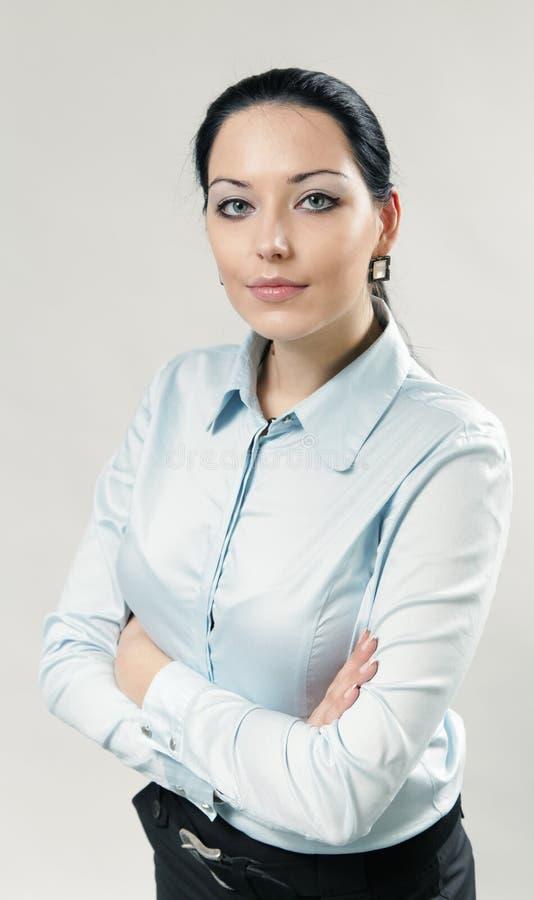 brunetki bizneswomanu portret seksowny obrazy stock