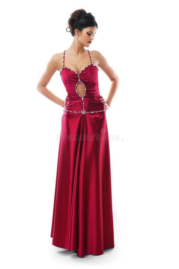 brunetki czerwień śliczna smokingowa zdjęcia stock