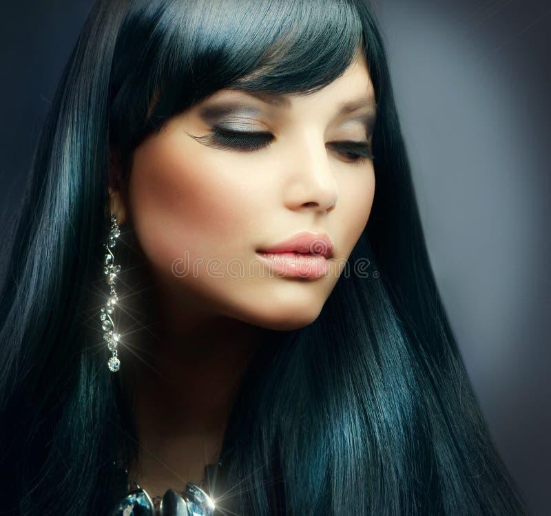 brunetki dziewczyny biżuteria zdjęcie stock