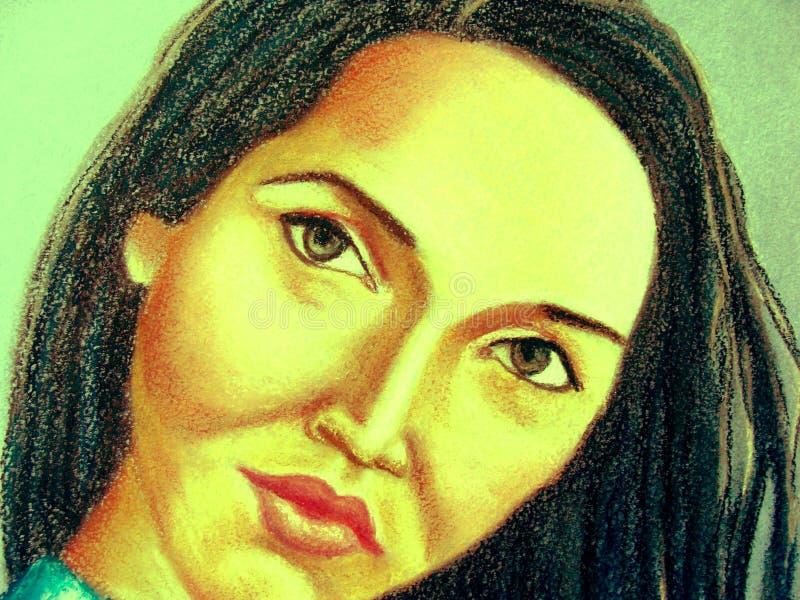 Brunetki kobiety portret ilustracji