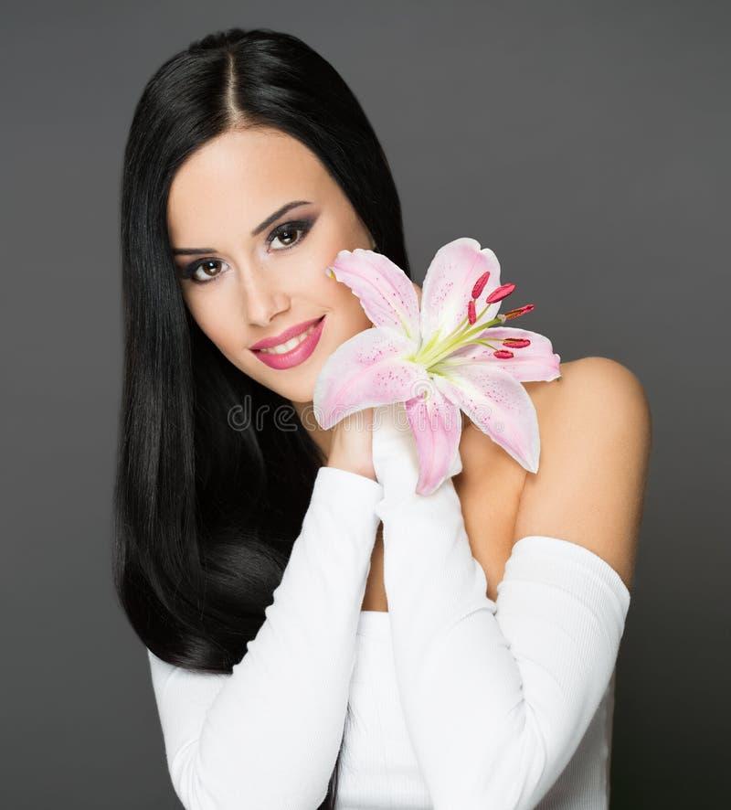 Brunetki makeup piękno zdjęcia stock