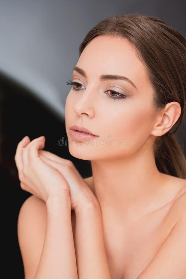 Brunetki makeup piękno obraz stock