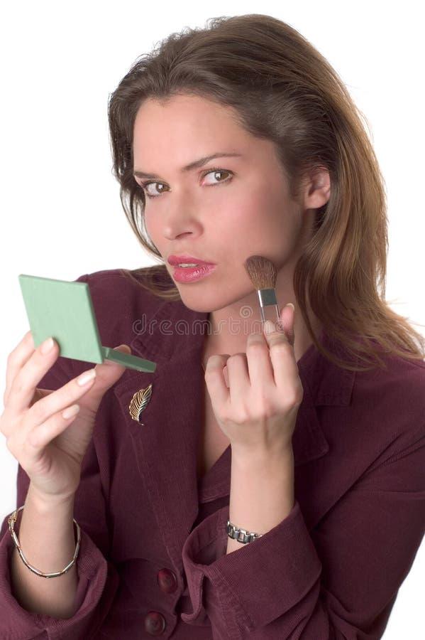 brunetki makijaż zdjęcie stock