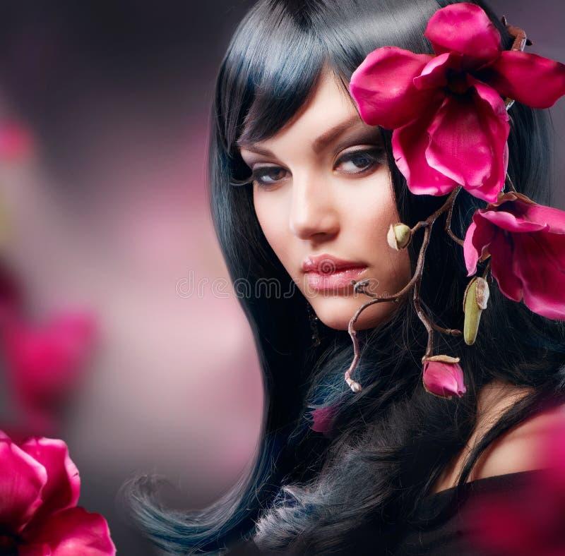 brunetki mody dziewczyna obrazy royalty free