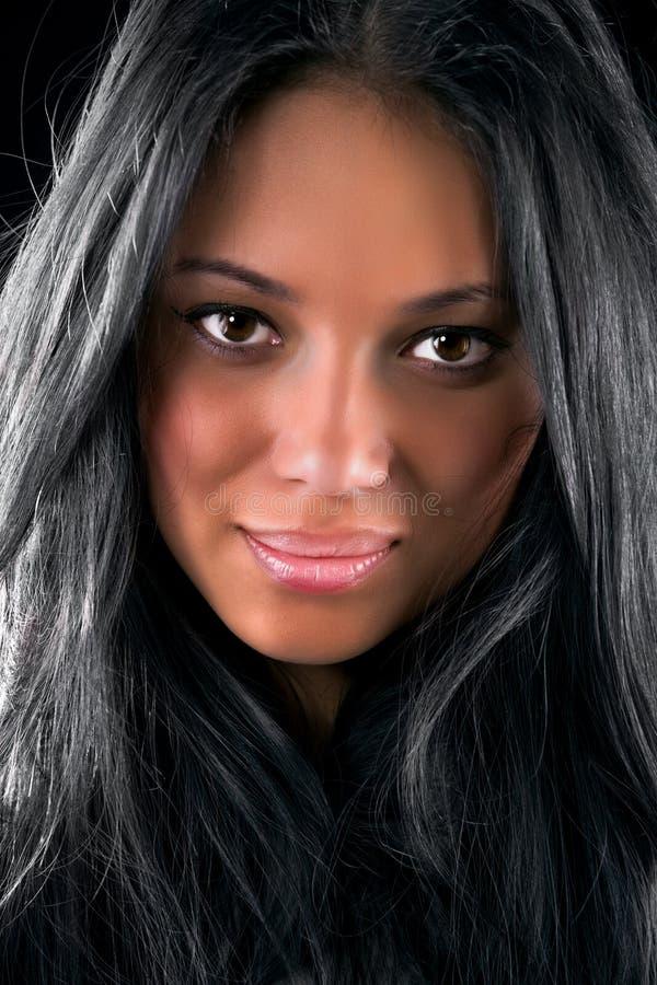 brunetki portreta kobiety potomstwa zdjęcie royalty free