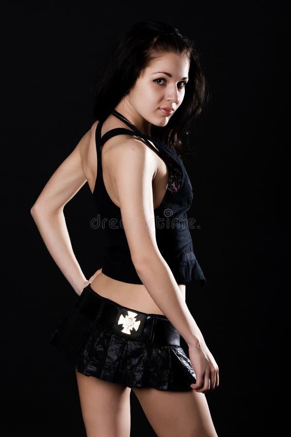 brunetki spódnica mini seksowna obraz stock