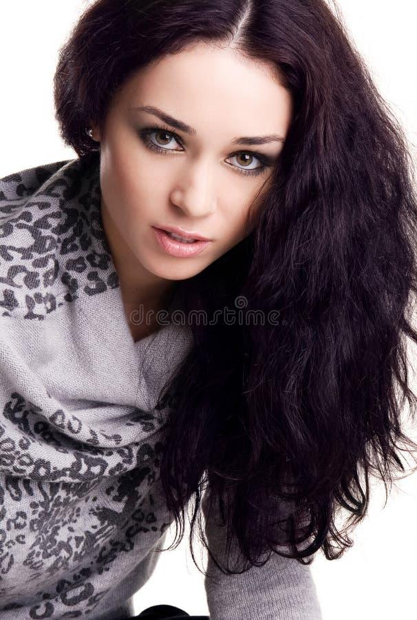 brunette αρκετά στοκ εικόνες
