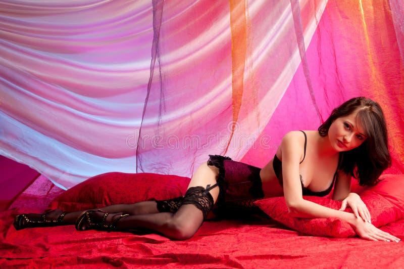 brunette σπορείων που βρίσκετα&iot στοκ φωτογραφία με δικαίωμα ελεύθερης χρήσης