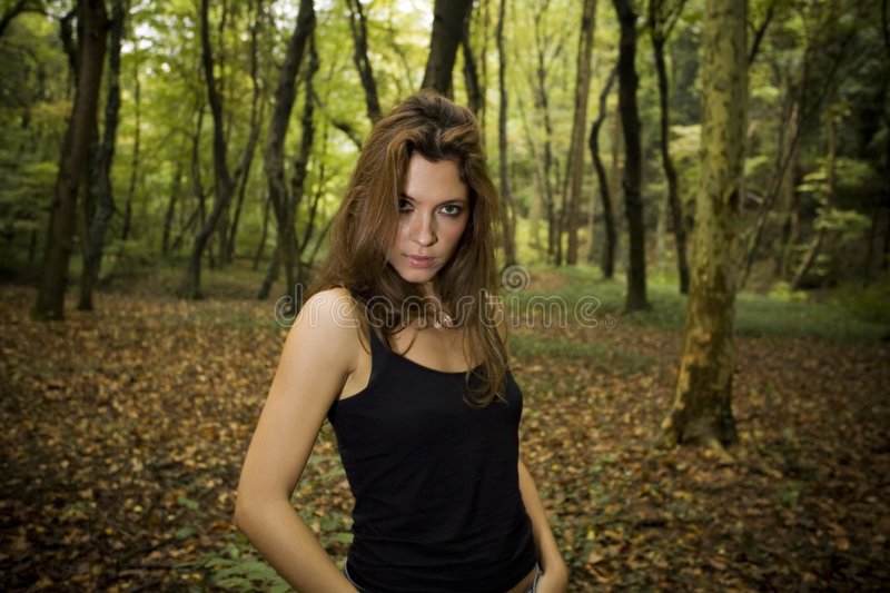Download Brunette stock photo. Image of brunette, magical, leafage - 1407444