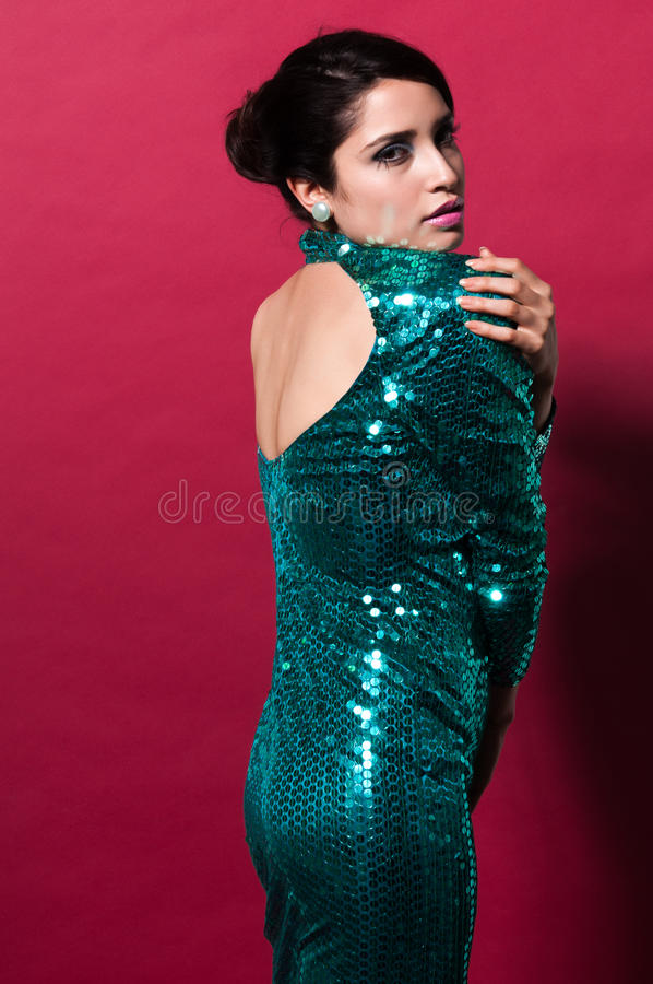 Download Brunette stock photo. Image of gown, shiny, pretty, elegant - 24492626