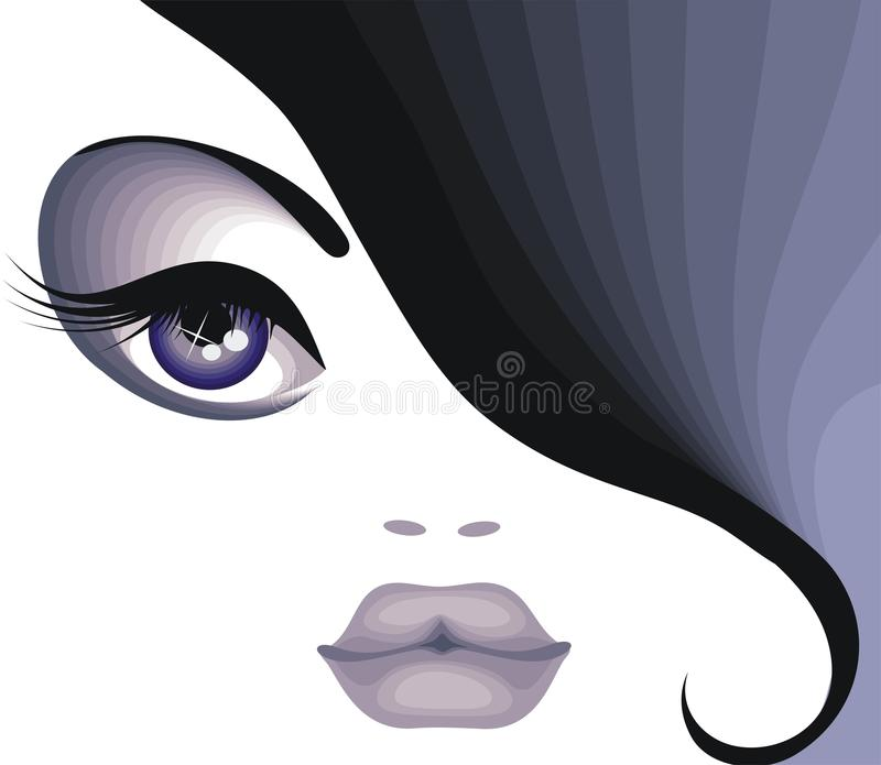 Brunette. Portrait of a beautiful brunette with makeup