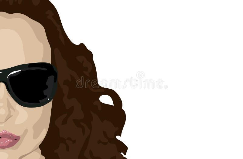 Download Brunette stock vector. Image of cosmetics, beautiful, gaze - 4249775