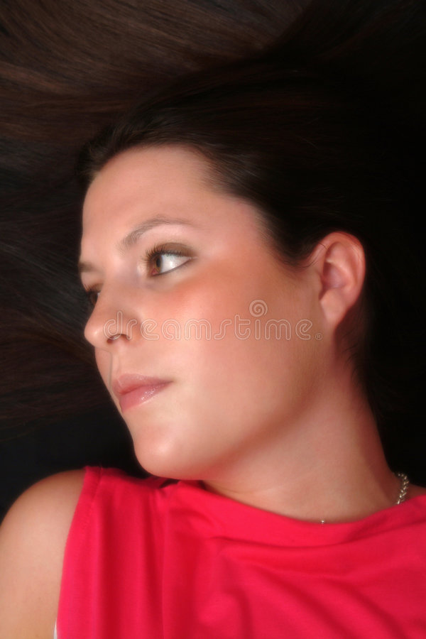 Download Brunette foto de stock. Imagem de brunette, serene, face - 66982