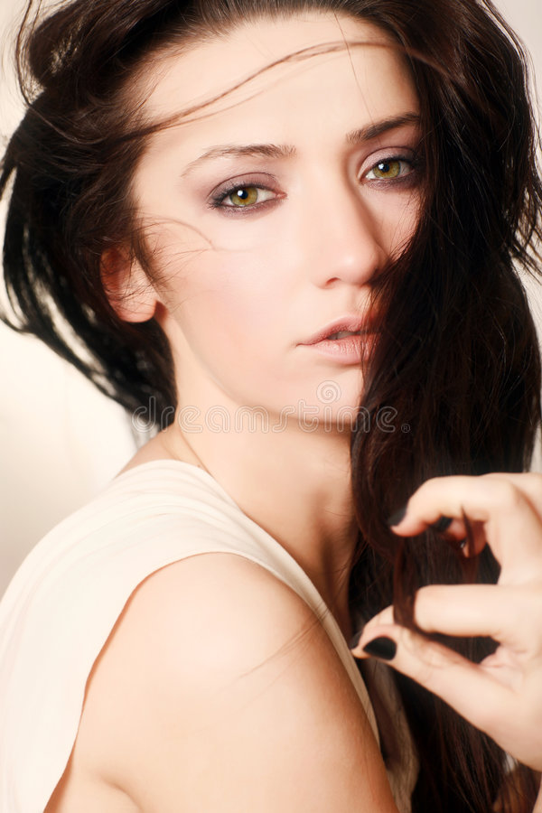 Download Brunette stock image. Image of glamour, attractive, close - 8249843