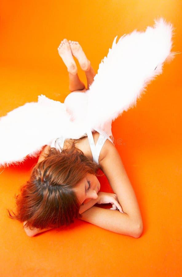 Brunette Angel royalty free stock photos